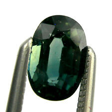 0.75 carat Oval 6x4mm Fancy Green Natural Australian Parti Sapphire Loose, OPS19