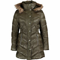 Genuine KARL LAGERFELD Women's Khaki Down Quilted Coat - size Small