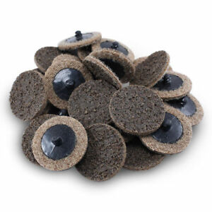 "50PC 2"" Coarse Roloc Scotch Brite Roll Lock Surface Sanding Disc - BROWN"