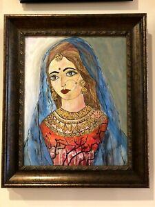 Original acrylic art painting - Radha Rani  :  Krishna's beloved
