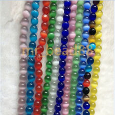50pcs Round Cat Eye Opal Loose Beads 6/8/10/12mm Gemstone DIY Necklace Jewelry