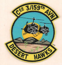 159th 3-159th C co Desert Hawks Army patch 4.25 in tall