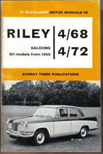 Riley 4/68 & 4/72 Saloons all models from 1959 Olyslager Motor Manual No. 35