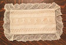 VICTORIAN LACE & FINE LINEN SMALL PILLOW - AMAZING LACEWORK!!! - VERY GOOD!!!