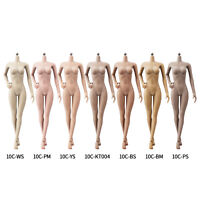 "JIAOU DOLL 1/6 Scale Female Body 12"" Flexible Seamless Medium Bust Action Figure"