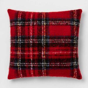 "Tartan Plaid Throw Pillow Red Oversize Square Checkered 24x24"" - Threshold"