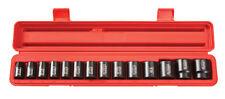"Tekton 14Pc. 1/2"" Drive 12-Point Shallow Impact Socket Set SAE-WARRANTY 48161"