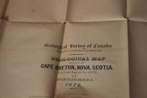 "1879 "" CAPE BRETON"" , NOVA SCOTIA , GEOLOGICAL MAP , GEOLOGICAL SURVEY OF CANADA"