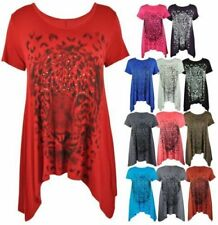 Animal Print Stretch Casual Tops & Blouses for Women