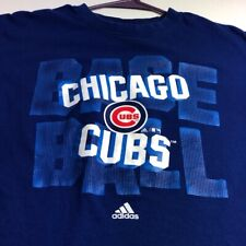 Adidas Chicago Cubs MLB Baseball Boy's Short Sleeve T Shirt XL 18 20 Blue Crew