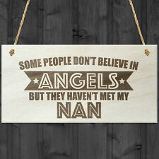 Believe My Nan Is An Angel Wooden Hanging Plaque Love Best Nanna's Gift Sign