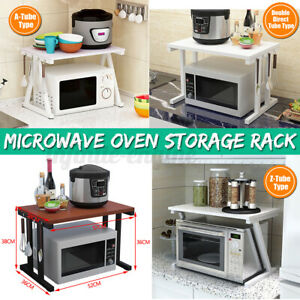 🇦🇺 NEW STYLE 2 Tier Shelf Microwave Oven Rack Stand Condiment Storage