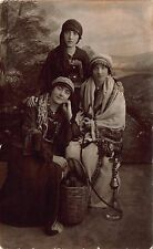 Real Photo Postcard Gypsy Fortune Tellers with Hookah in Photo Studio~111883