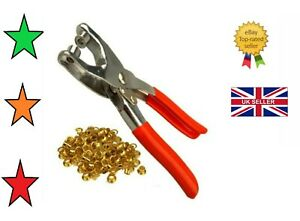 50 Eyelet Fabric Punch Pliers Leather Canvas Hole Puncher Tool 50 Eyelets