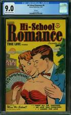 HIGH SCHOOL ROMANCE 6 CGC 9.0 COW 2ND HIGHEST GRADED FILE COPY LOVE STORIES  A3