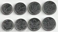 BRAZIL COIN SET 1+5+10+50 Centavos 1989-1990 KM 611+612+613+614 UNC LOT of 4