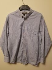 Ariat Pro Series Mens XL Western Shirt Long Sleeve Button Front Blue Stripe