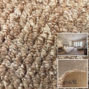 Clearance   Dark Beige Tweed 100% Polypropylene Loop Carpet Action Back Flecked