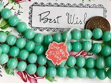 25 Vintage Jade Beads, Miriam Haskell Glass Beads 8mm, Cherry Brand, Japan #B110