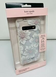 NEW Kate Spade Hardshell Case for Samsung Galaxy S10 Hollyhock Floral Clear