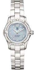 AUTHENTIC TAG HEUER AQUARACER WAF141J.BA0813 DIAMOND BLUE MOTHER PEARL WATCH