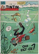 TINTIN n°720 - 9 Aout 1962 - Complet très bel état