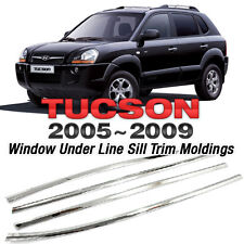 For HYUNDAI 2005-2009 Tucson, Chrome Window Under Line Sill Trim Moldings 4P