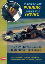 Not Winning Not Trying 1973 JPS Team Lotus DVD Colin Chapman Fittipaldi  *NEW
