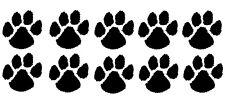 DOG PAW PRINTS Novelty Vinyl Car/Kitchen/Bathroom/Bedroom Stickers/Decals x10