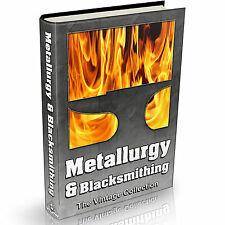 Metallurgy & Blacksmithing Books 122 Vintage Books on DVD Metal Work Forge Anvil