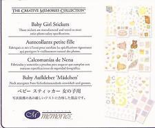 CREATIVE MEMORIES BABY GIRL Stickers Pack Toys Bath Feeding Feet Hands Scrapboo
