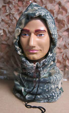 POLAR FLEECE WOODLAND HUNTING CAMO ECW NECK GAITOR & BALACLAVA FOR COLD WEATHER