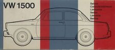 Volkswagen 1500 Type 3 Saloon Original Multilingual Colours & Trims Brochure