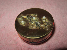 Vintage Gold Tone USA Collapsible Telescoping Tuckaway Travel Cup & Pill Box