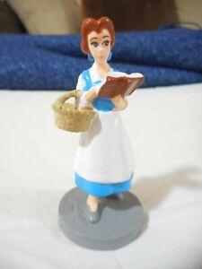 Disney Applause Belle Figure Cake Topper Miniature Book & Basket Beauty Beast