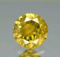 Diamante natural 0.15 ct 3.3mmAmarillo fancy  redondo natural de África  raro!!