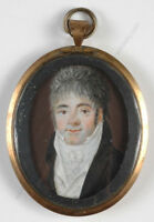 """""""Portrait of a Young Gentleman"""", French miniature, ca.1800"""