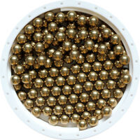 4.5mm 100pcs Brass ( H62 ) Solid Bearing Balls High Precision