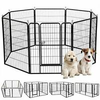 Puppy Outdoor Pen Playpen Dog Cage Pet Rabbit Enclosure Portable Fence 1m Height