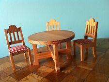 Stühle Tisch Esszimmer Lundby 70er Jahre Puppenhaus Puppenstube   1:18