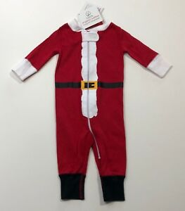 NWT HANNA ANDERSSON St Nick Red Organic Zip Sleeper Size 50 0-3-6 Months