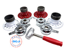 4 Universal Wire Wheel Adapters, Lead Hammer and Zenith Cut Spinners