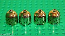 Lego 4x Gold Chrome Brick, Round 2x2x1 Dome Top (30151) NEW!