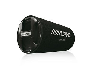 "ALPINE SWT-12S4 1000w 12"" Car Audio Subwoofer in Bass Tube Enclosure 4-Ohm Sub"