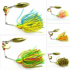 Lot 5pcs Fishing Lures Metal Fish Bass Spinner Crankbait Crank Bait Tackle Hooks