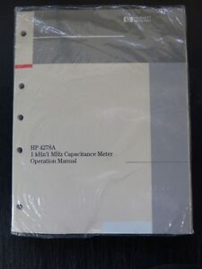 HP Agilent Keysight 4278A capacitance meter operation manual NEW