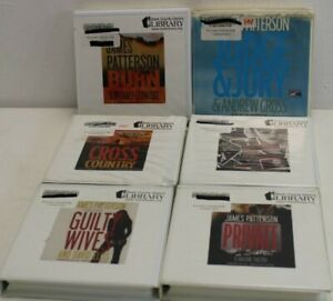 Lot of 6 JAMES PATTERSON Audio Books , Guilty Wives, Private #1 Suspect SCPL