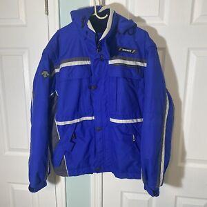 Descente Reed Insulated Snow Ski Jacket Coat Blue Men's XL D1-8634 EUC! Nylon
