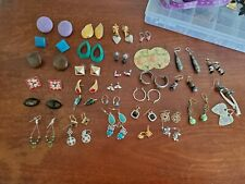 Vintage To New Earrings Lot, wearable or craft. Assorted