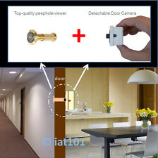 Mini 190° Brass PeepHole Viewer hidden Detachable Door Camera 800TVL Video CCTV